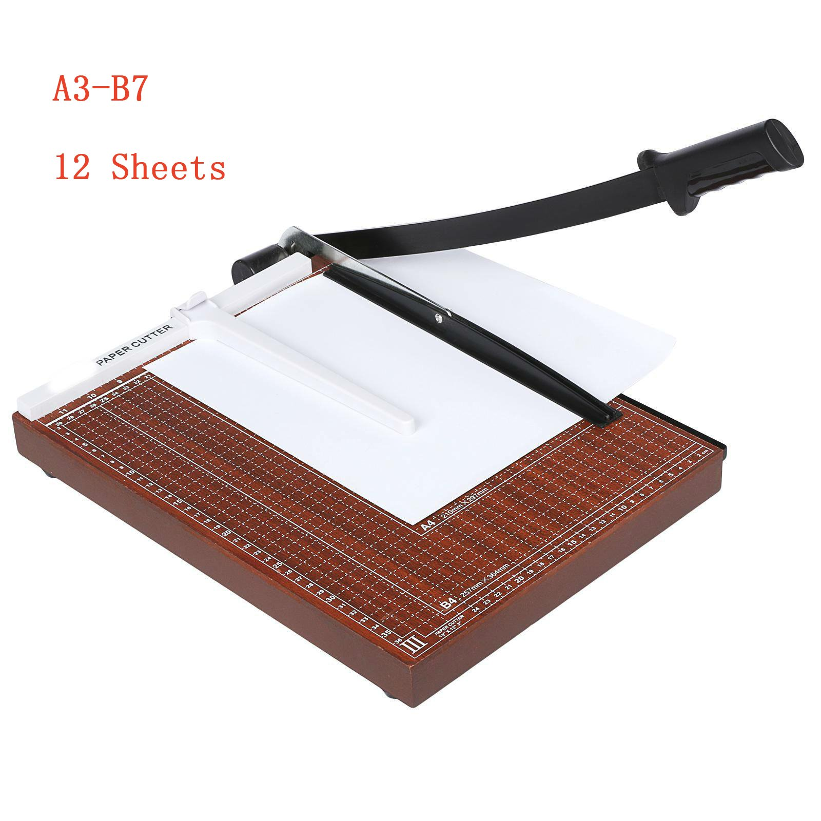 Foshin Paper Cutters Trimmers, Heavy Duty 12 Sheets Professional Office Home Desk Tops Paper Cutter Scrap Guillotine Trimmer Machine, A3-87 (US Stock)