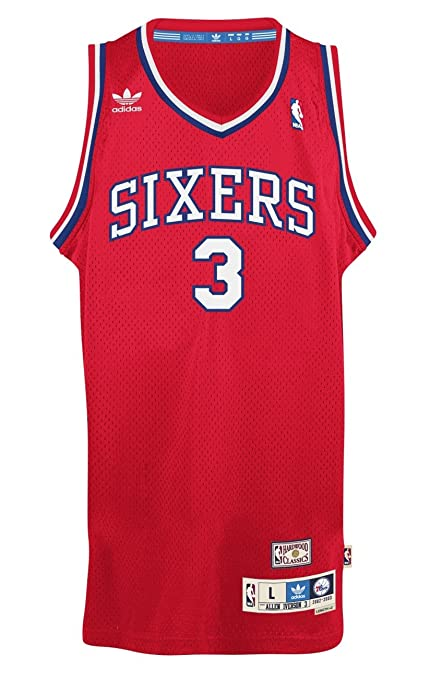 792d3fd9a Allen Iverson Philadelphia 76ers Adidas Throwback  quot The Answer quot  Swingman  Jersey