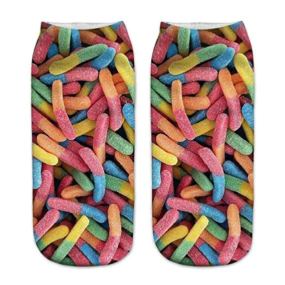 VJGOAL Unisex Casual fashion 3D Cute candy Printing Medium ...