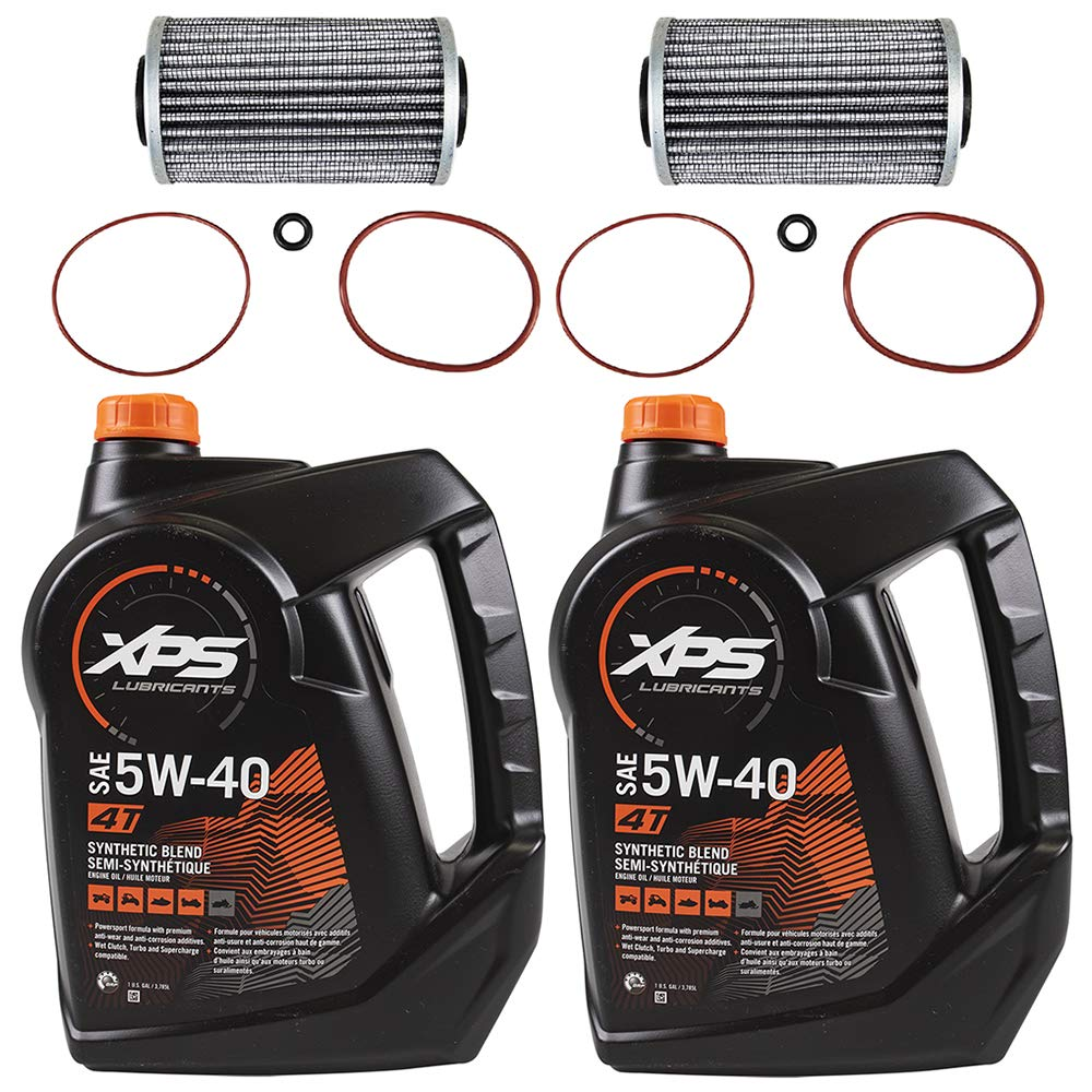 Sea Doo BRP Oil Change Kit W/ Filter & O Rings All 4-Tec GTX GTI RXP RXT 2 Pack by BRP Sea Doo
