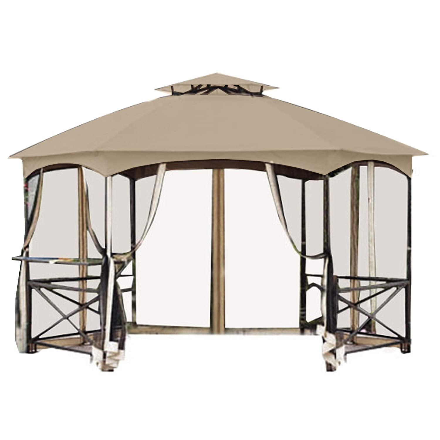 Garden Winds Crossman Hexagon Gazebo Replacement Canopy