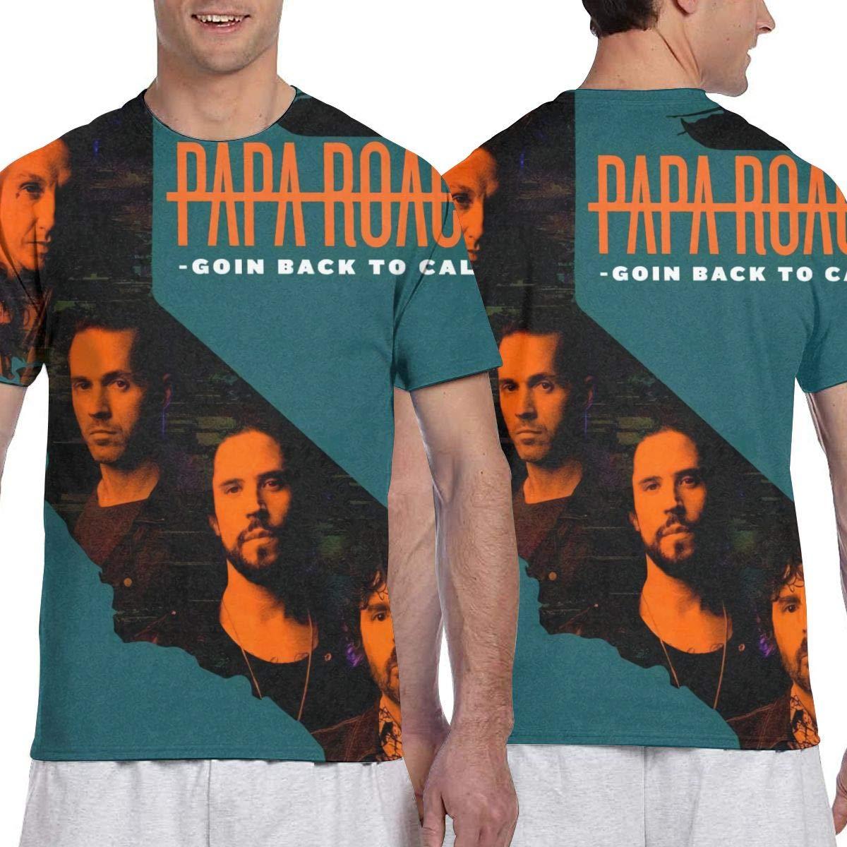KathyCCassady Papa Roach 3D Printing Classic Soft Mens Short Sleeve Pattern Tee