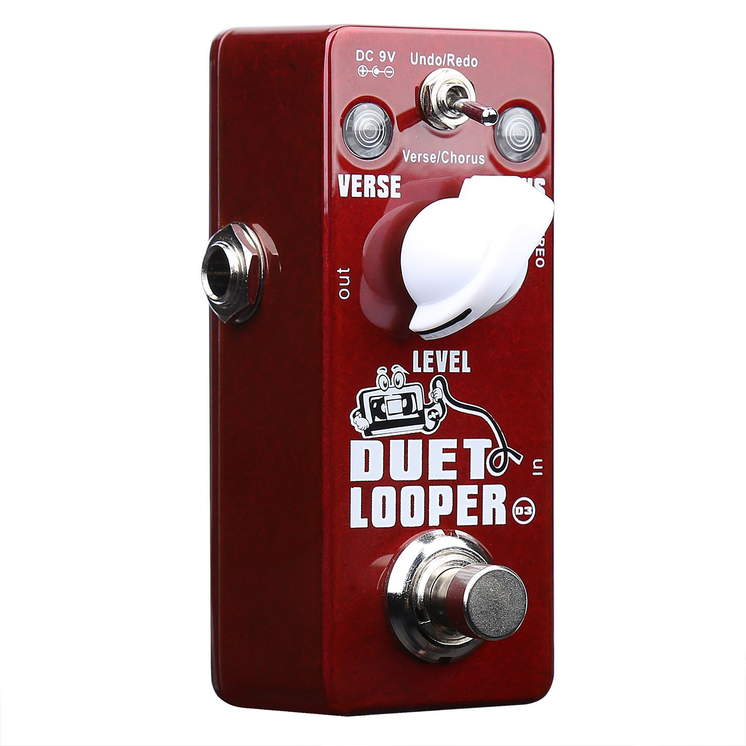 Xvive Duet Looper Stereo Dual Channel Loop Station Effects Pedal for Guitar Bass(Undo/Redo,Verse/Chorus)D3