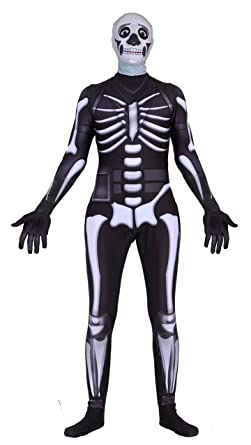 amazoncom riekinc crâne trooper zentai halloween cosplay costume enfants taille vêtements