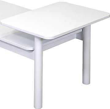 MDF//Bois Massif Bromham Table Basse Table de Salon Couleur Blanc 112 x 55 x 44,7 CM 100/% Fabriqu/é En UE Design Moderne Scandinave