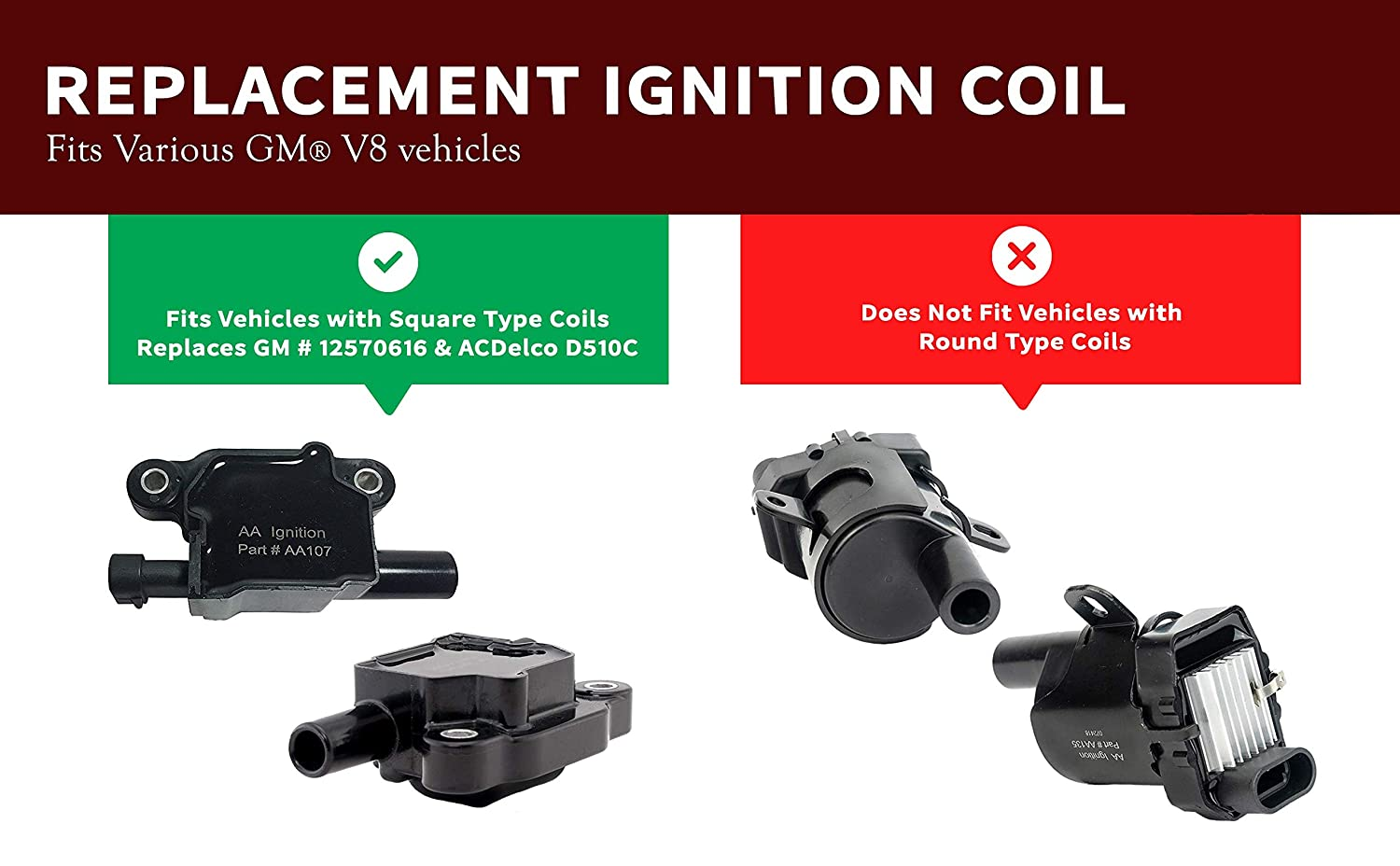 Ignition Coil Pack Set Of 8 Replaces Gm 12570616 Buzz Box Acdelco D510c Cadillac Chevrolet Gmc Pontiac 53l 60l V8 G8 Grand Prix H3 Tahoe
