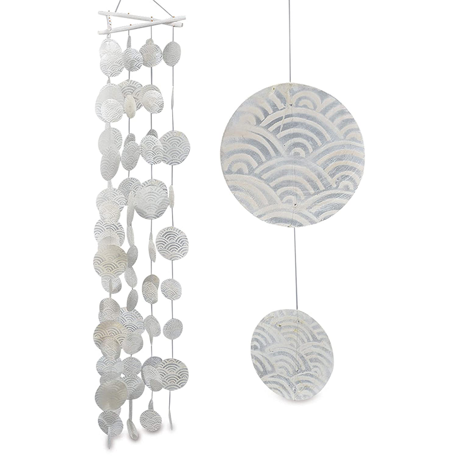 CAPIZ SHELL WIND CHIME GIOVANE WHITE NACRE - Tinas Collection Boltze Gruppe GmBH