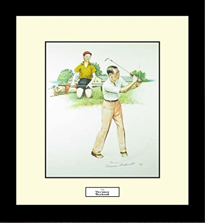 Amazon.com: Norman Rockwell GOLF Framed Golf Wall Hanging Art Gift ...