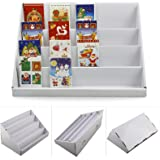 MultiWare Cardboard Display Stand 4 Tiers Greeting Card Stand Display 2pcs