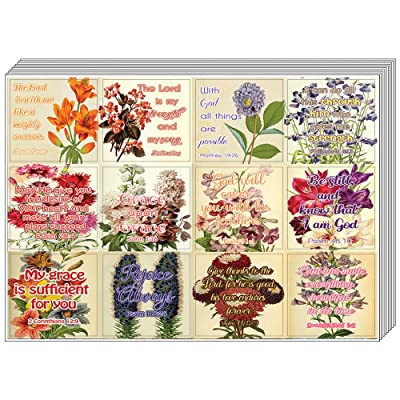 Christian Stickers for Women Series 4 (5-Sheet) - Great Variety Colorful Stickers : Office Products