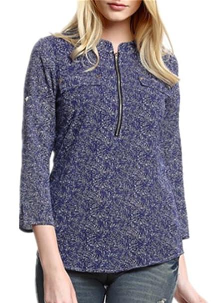 Camisas Stitch Mujer Flores Hipster Camiseta Tops Con Mangas Largas Tallas Grandes: Amazon.es: Ropa y accesorios