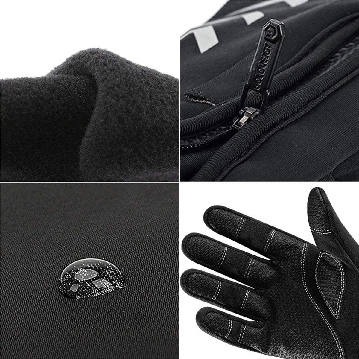 Winter Warm Waterproof and Windproof Touchscreen Gloves Full Finger Mittens for Men /& Women Rehomy Cycling Gloves