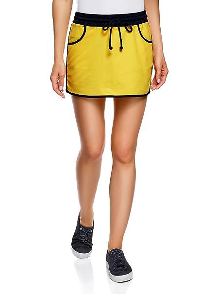 e966252b5b oodji Ultra Mujer Falda de Punto con Cintura Elástica  Amazon.es  Ropa y  accesorios