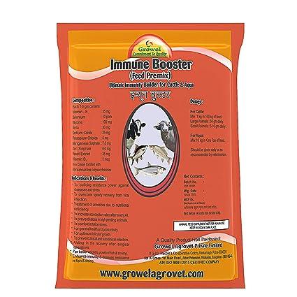 Growel Immune Booster Premix - Minerals & Mixture for Cattle , Aqua ,  Poultry & Other Farm Animals- 1Kg