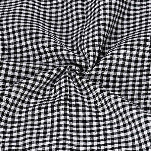 FEITONG Damen Sommer Beiläufige Kariertes Hemd Langarm Bluse T-Shirt Tops
