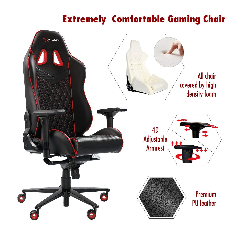 Amazon.com: Ewin Silla de oficina de mejor masaje, silla de ...