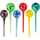 Brajttt Plant Watering Globes, 6pcs Automatic Glass Watering Bulbs, Decorative Garden Watering Glass drip Ball with 6 Tags