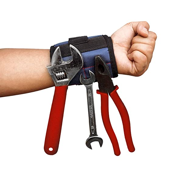Review Spartan Wrist Magnetic Wristband | Magnet Tool Holder for Screws, Nails, Drill Bits | Unique Tool Gift for DIY Handyman, Father/Dad, Husband, Boyfriend, Men, Women