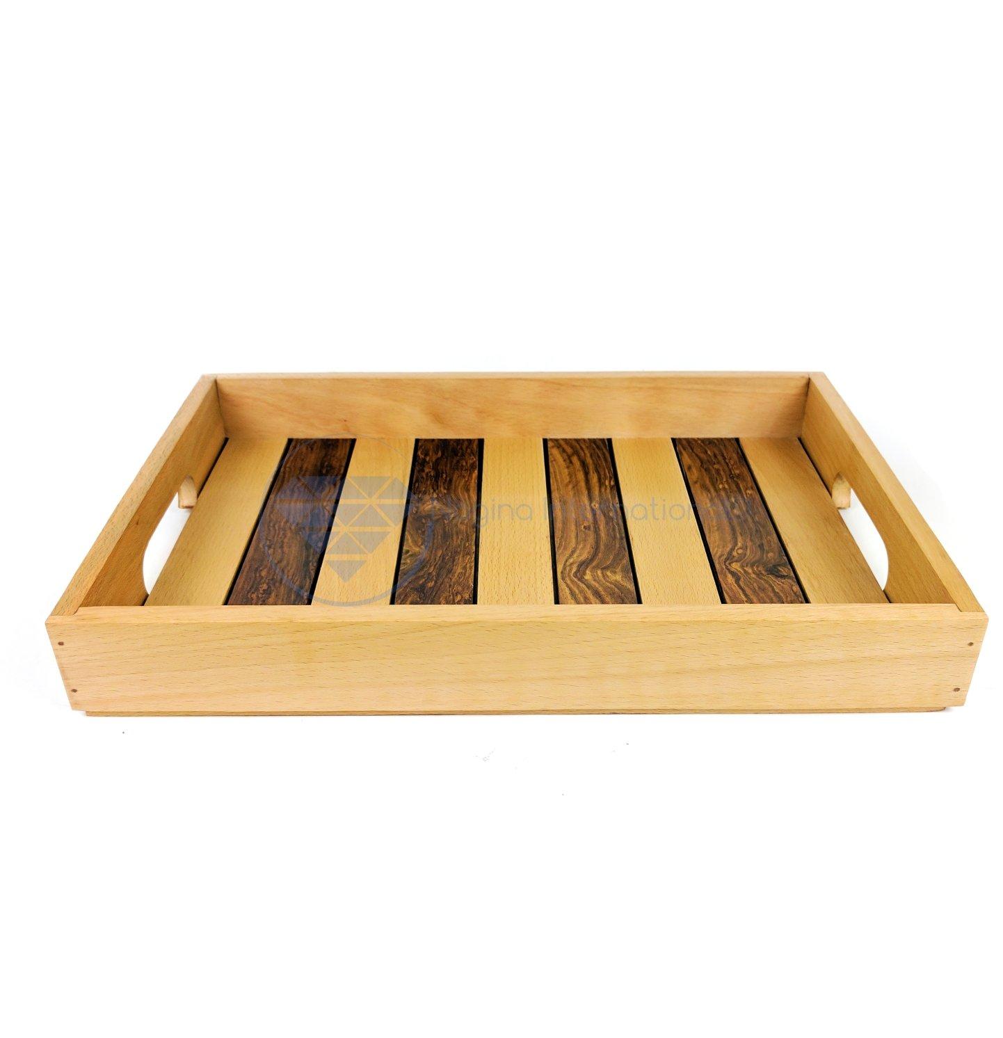 Nagina International Hand Made Premium Wooden Coffee Tray | Kitchen Trays & Table Decor