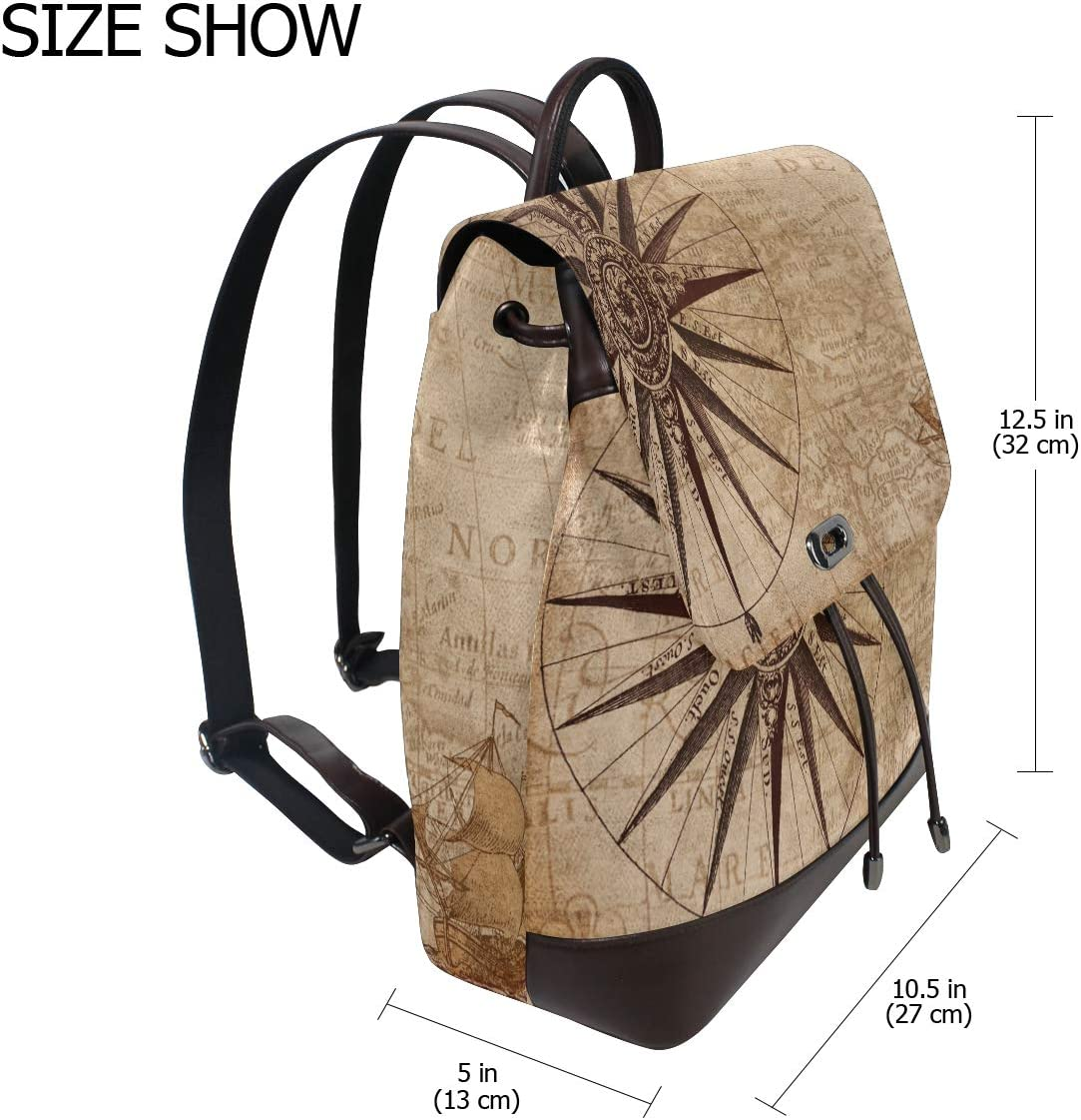 Shopping Bag Backpack Storage Bag For Men Women Girls Boys Personalized Pattern Compass School Bag Travel Bag