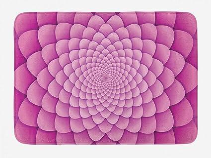 Amazoncom Yvsxo Pink Mandala Bath Mat Digital Lotus Flower With