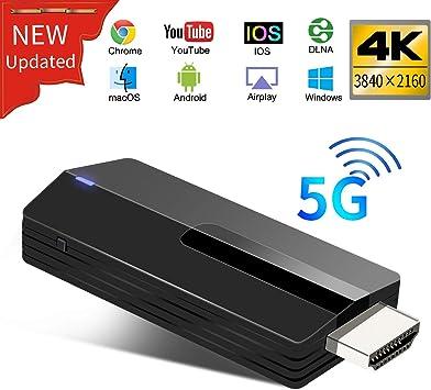 Monitor Proyector iPad Android Mac OS a HDTV Yehua Miracast HDMI Dongle,1080P 5G Cast Adaptador Inal/ámbrico de Pantalla HDMI,Admite Airplay Miracast DLNA para iPhone iOS
