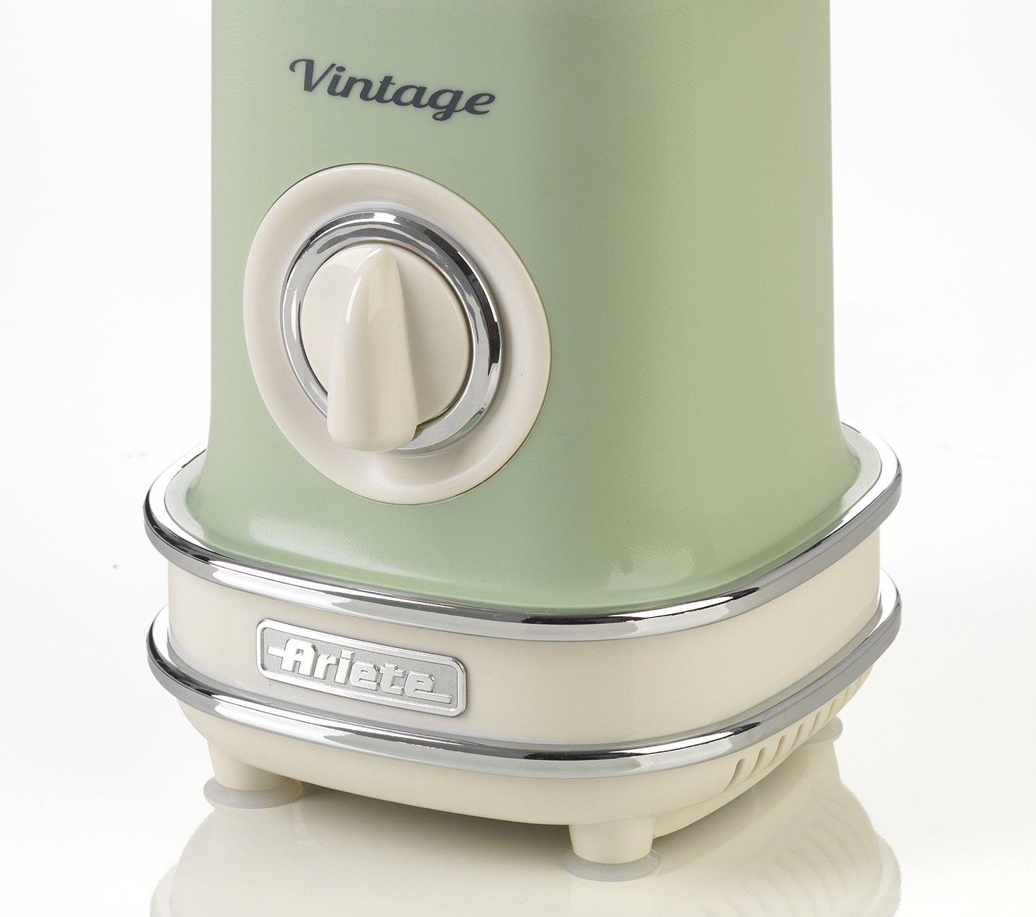 Ariete 568/04 Batidora de Vaso Vintage, 500 W, 1 Litro, 2 Velocidades, Verde