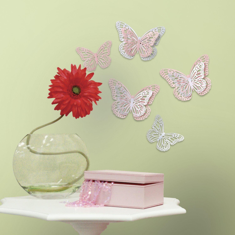 Vinilo Decorativo Pared 3D [1JD6D89G] mariposas