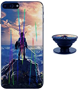 The Legend of Zelda iPhone 7 iPhone 8 Case Shiny Laser Style Protective TPU Cover Soft Rubber Silicone with Phone Holder Bracket Compatible iPhone 7 8 (4.7 inch)