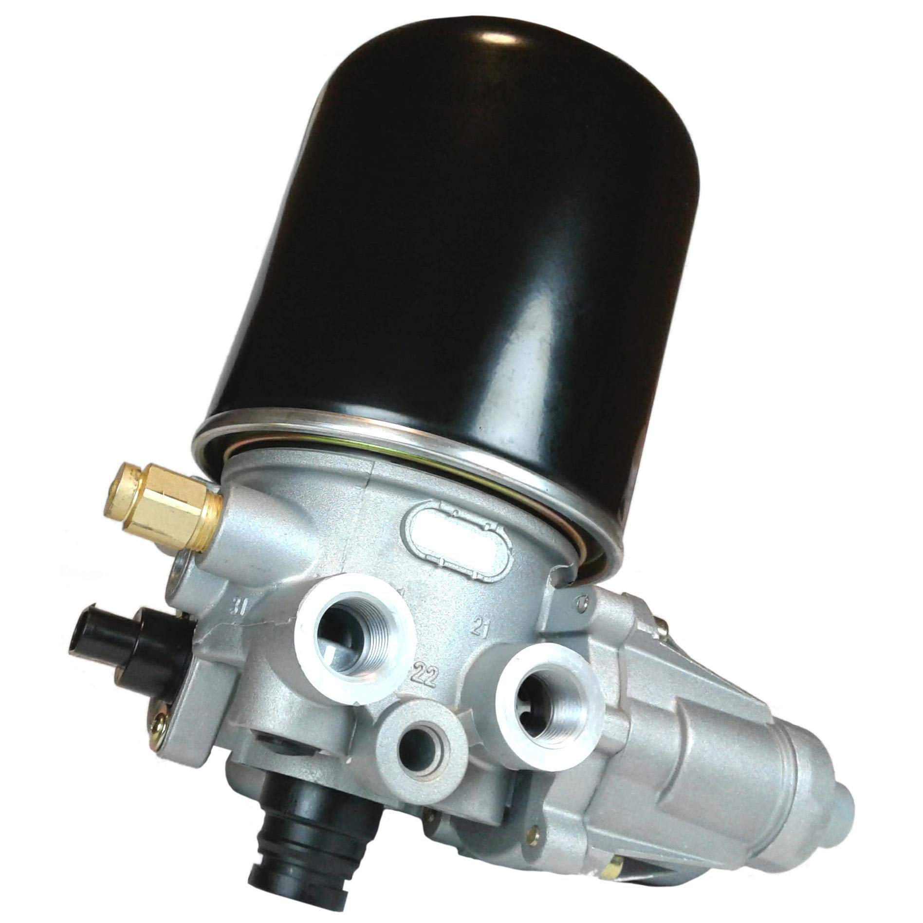 Brake Air Dryer Assembly with In-Line Check Valve and Pigtail for Heavy Duty Big Rigs