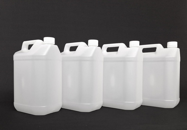 H32 Pack de bidones de plástico Transparente (4 Unidades, 5 L ...