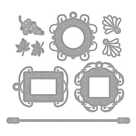 Spellbinders Shapeabilities Frame Charms Die, Metal, Brown, 22.2 x ...