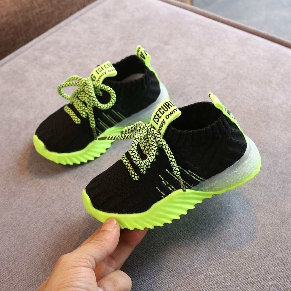 Boys and Girls Fashion Cute cartoon girl Design Fly Knit Sneaker Shoes