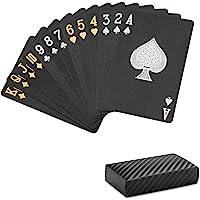 Playing Cards Professional Poker Cards, Black Diamond Waterproof Plastic Standard Playing Card Decks Designer Novelty (1…