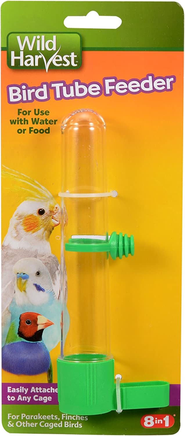 Wild Harvest P-84140 Bird Tube Feeder for Parakeets/Finches and Other Caged Birds