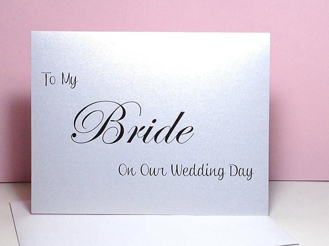 amazon com to my bride on my wedding day card from groom wedding