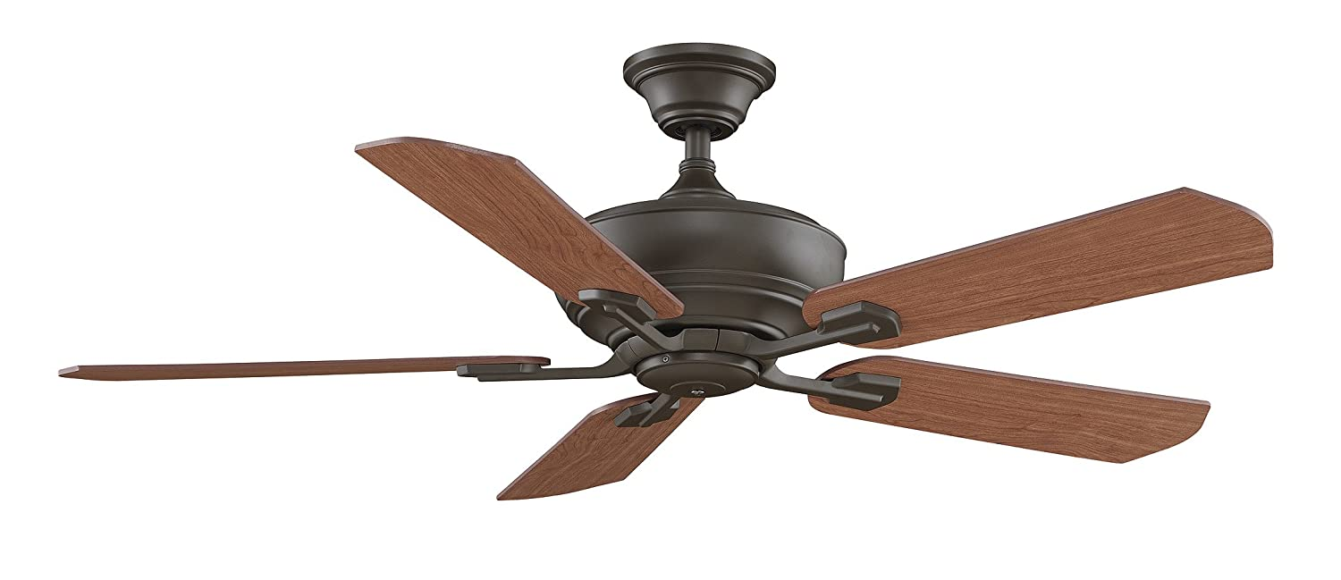Com Fanimation Camhaven 52 Inch Oil Rubbed Bronze With Cherry Walnut Reversible Blades Light Kit And Remote Fp8095ob Home Improvement