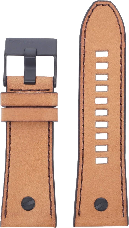 Correa para reloj diésel LB-DZ7406, correa de repuesto de piel, 28 mm, color marrón