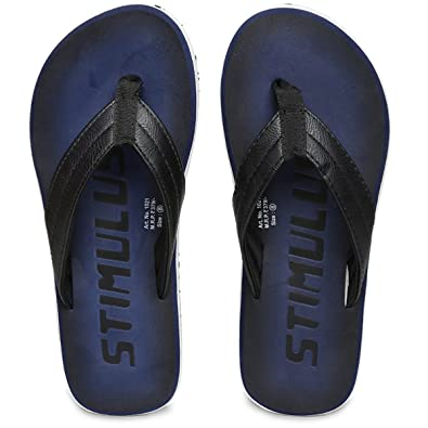 ac41e95f44f28 PARAGON Stimulus Men's Blue Flip-Flops: Buy Online at Low Prices in ...