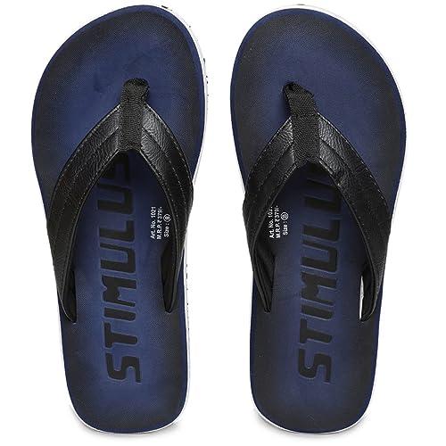0c4c9bc5509b PARAGON Stimulus Men s Blue Flip-Flops  Buy Online at Low Prices in India -  Amazon.in