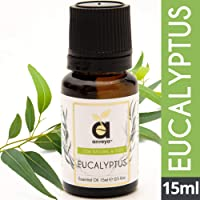 Anveya Eucalyptus Essential Oil, 100% Natural and Pure, for Hair, Beard, Skin, Face and Diffuser, 15 ml