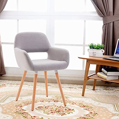 Peachy Heynemo Living Room Chair Mid Century Modern Style Chair For Bedroom Bedroom Chair With Sturdy Bentwood Legs Grey Inzonedesignstudio Interior Chair Design Inzonedesignstudiocom