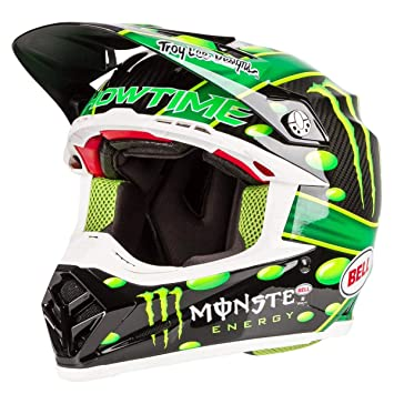 Bell 7093191 Moto-9 Flex Mcgrath Monster Casco, Verde/Negro, Talla L
