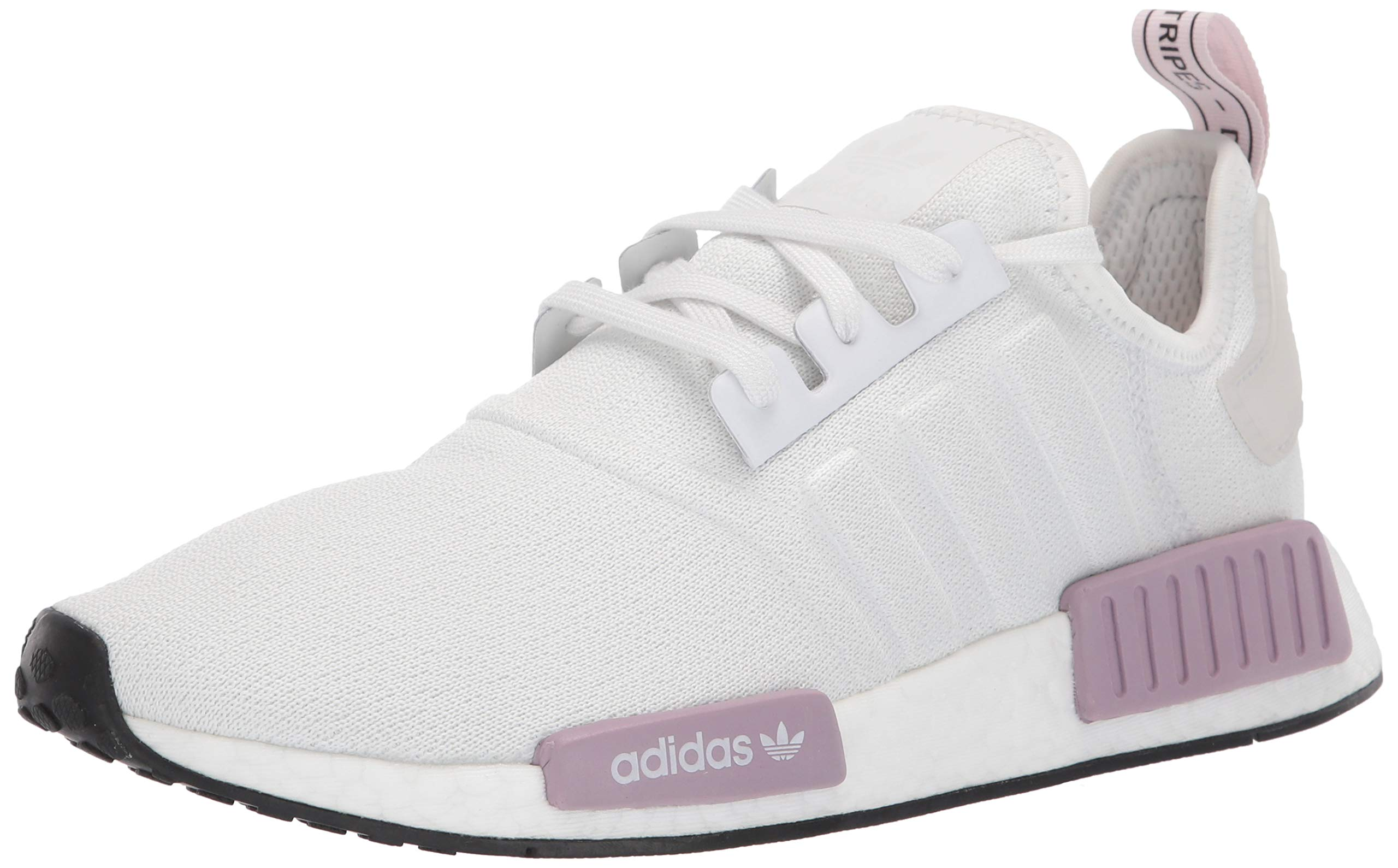 adidas Originals Women's NMD_R1 Running Shoe, Crystal White/Orchid Tint, 6.5 M US