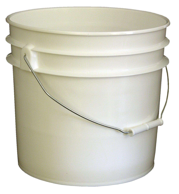 VESTIL pail-35-pws plástico abierto cabeza cubo con mango de acero ...