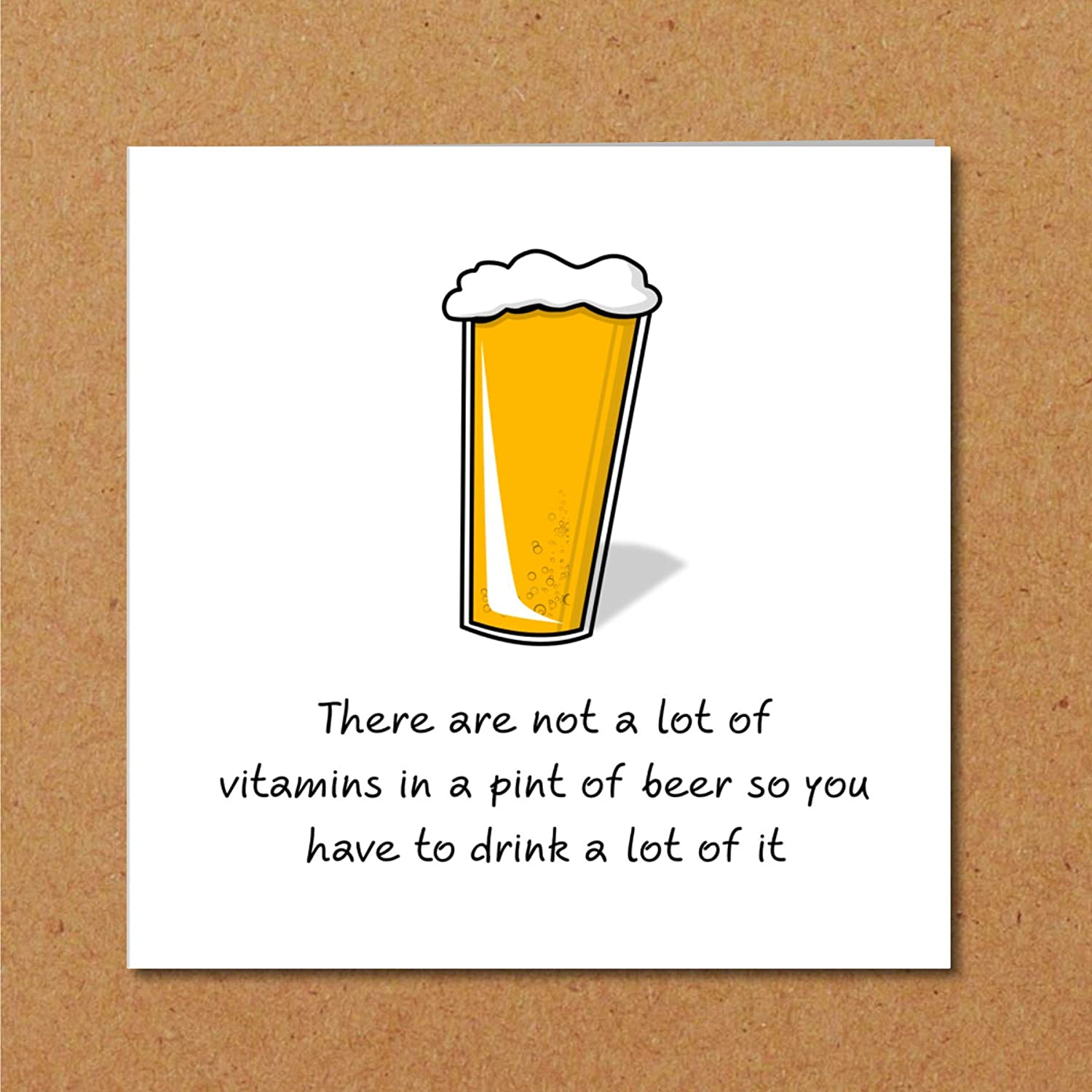 Excellent Birthday Card For Beer Drinker Husband Son Father Uncle Or Any Funny Birthday Cards Online Fluifree Goldxyz