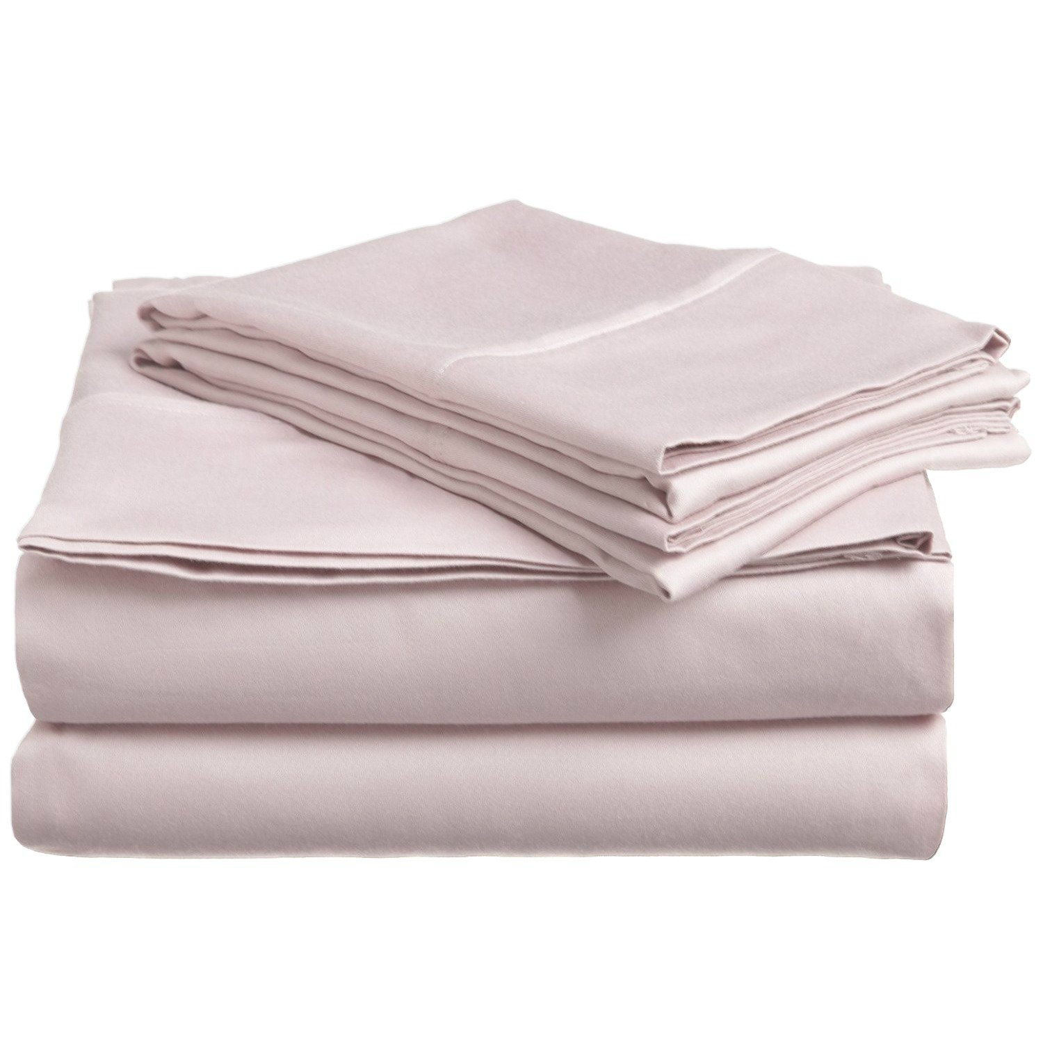 4 Piece Queen Lilac Bed Sheet Set, Ultra cozy, super soft, lightweight, durable, satiny smooth, Fully Elasticized, Sateen weave with 300 thread count, Light Purple, Cotton