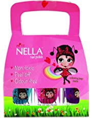 Miss Nella Kinder-Nagellack mit Glitzereffekt, 3er-Set: Sugar Hugs Jazzberry Jam & Under The Sea, Nagellack auf Wasserbasis, ablösbare Formel