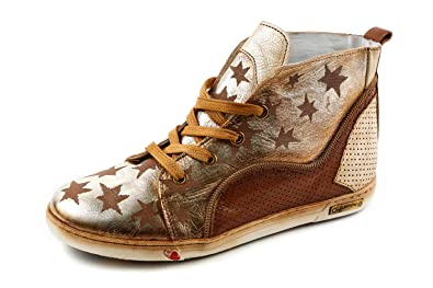 1191657cbd45e0 Felmini Damen Sneaker High Braun Gold Gr. 37  Amazon.de  Schuhe ...