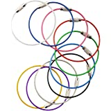 Multicolor Steel Wire keychain, Stainless key ring, Durable Steel Cable Ring, Cable keyring Twist Barrel (10pcs)